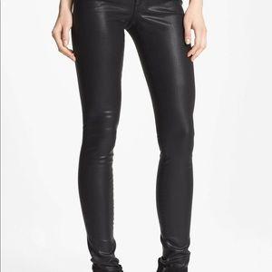 JOE'S JEANS The Skinny Coated Black Pants Jeans